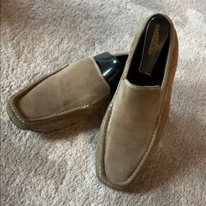 KENNETH COLE Mens Shoes Loafers Suede 7.5 Slip Ons